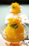 Orange Dessert Royalty Free Stock Photography
