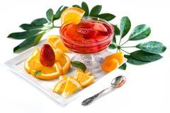 Orange with dessert Royalty Free Stock Photos