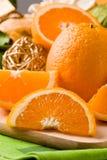 Orange Dessert on cutting board Royalty Free Stock Photo