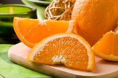 Orange Dessert on cutting board Stock Photo