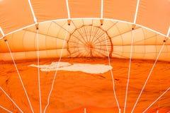 Orange detalj för luftballong Royaltyfri Foto