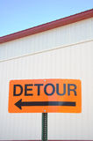 Orange Detour Sign Royalty Free Stock Images