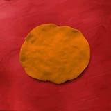 Orange diagram för plastellina Arkivfoton