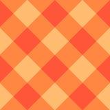 Orange Diamond Chessboard Background Stock Photos