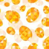 Orange diamond eggs vector seamless pattern Royalty Free Stock Image