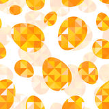 Orange diamond eggs vector seamless pattern Royalty Free Stock Photos