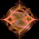 Orange Diamond Fractal With Star Lizenzfreie Stockbilder
