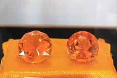 Orange diamond Stock Photography