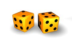 Orange Dice Stock Photo