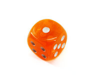 Orange Dice Stock Photos