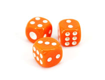 Orange Dice Royalty Free Stock Photography