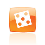 Orange dice Stock Image