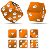 Orange dices Royalty Free Stock Photography