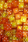 Orange dices pile Royalty Free Stock Image