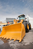 Orange diesel front end loader Stock Photography
