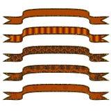 orange différente de 5 drapeaux Images libres de droits
