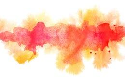 Orange diffluent watercolor line Stock Image
