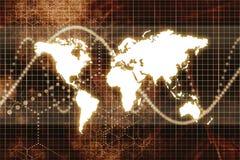 Orange Digital World Business Abstract Royalty Free Stock Photos