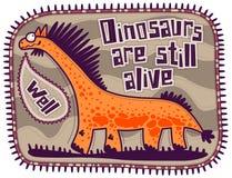 Orange dinosaur Stock Images