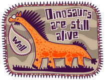 Orange dinosaurie Arkivbilder