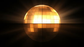 Orange disco ball stock footage
