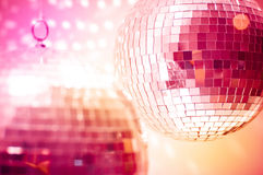 Orange disco globes Royalty Free Stock Photos