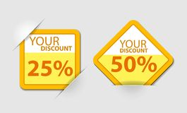 Orange discount Royalty Free Stock Images