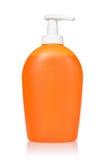 Orange dispenser with detergent Royalty Free Stock Image