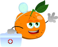 Orange doctor with first aid kit Royalty Free Stock Images