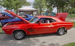 Orange Dodge Challenger Royalty Free Stock Photos
