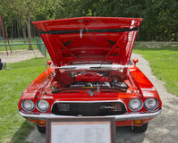 Orange Dodge Challenger Engine Stock Images