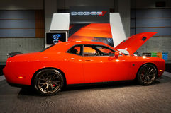 Orange Dodge Challenger SRT Hellcat Stock Photos