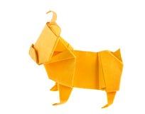 Orange dog bulldog of origami. Stock Photos