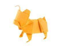 Orange dog bulldog of origami Stock Photography