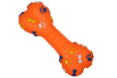 Orange dog toy Stock Images