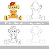 Orange doll. Drawing worksheet. Stock Photography