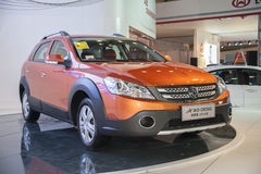 Orange dongfeng h30 cross car Royalty Free Stock Photography