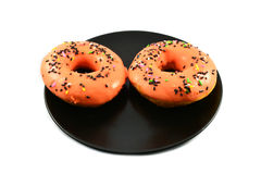 Orange Donut Royalty Free Stock Photos