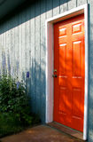 Orange Door Royalty Free Stock Photography