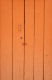 Orange door Royalty Free Stock Images