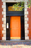 Orange Door Stock Images