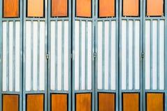 Orange door Royalty Free Stock Photos