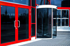 Orange doors in office Royalty Free Stock Photography