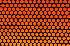 Orange dots on black. Shades of orange to yellow dots on black background Stock Images
