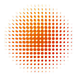 Orange dotted background Royalty Free Stock Image