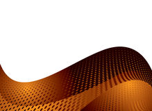 Orange dotty wave Stock Image