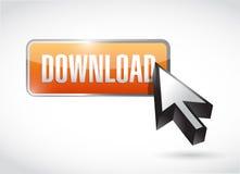 Orange download button illustration design Stock Photos