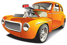 Orange drag car Royalty Free Stock Photo