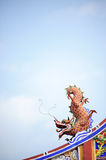 Orange dragon Royalty Free Stock Images