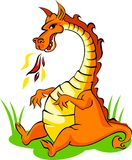 Orange dragon Stock Image